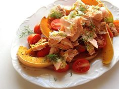 Trout & Butternut Salad paired with Opstal 'The Barber' Semillon South African Wine, Wine Pairings, Bruschetta, Trout, Wine Recipes, Barber, Wines, Management, Yummy Food