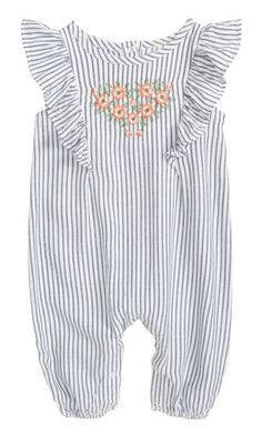 flutter sleeve embroidered romper #toddler #affiliate