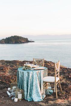 Nautical Coastal Mermaid Inspired Wedding
