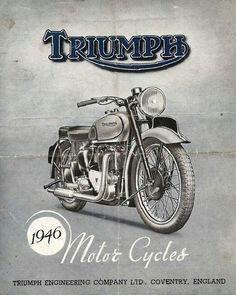 Brochure photo for Triumph 500 Tiger Triumph Motorcycles, Indian Motorcycles, Cool Motorcycles, Vintage Motorcycles, British Motorcycles, Bsa Motorcycle, Motorcycle Posters, Vintage Bikes, Vintage Ads