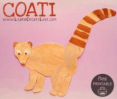 Coati Printable Craft