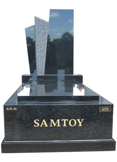 Memorial Headstone over Full Monument – Samtoy – Fully polished memorial headstone over full monument created in Regal Black (Dark) and Royal Black Indian Granite for Samtoy and installed at the Springvale Botanical cemetery. #Headstone #Headstones #Gravestones #Gravestone #Gravemarkers #Memorials #Cameomemorials #memorialsmonuments #headstonesmemorials #beautifulmemorials #cemeterymonuments #fullmonuments #headstoneandbases #stonemasonsmelbourne #memorialheadstones #headstoneincriptions