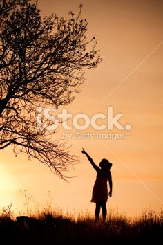 Girl and tree. Royalty Free Stock Photo