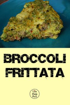 You won't be able to just eat one serving of this tasty Broccoli Frittata!