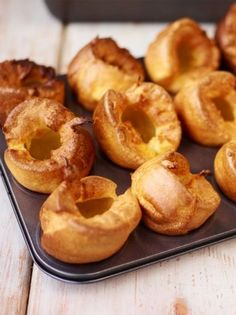 Yorkshire Puddings - Jamie Oliver Made these in mini muffin tins. A half batch f. CLICK Image for full details Yorkshire Puddings - Jamie Oliver Made these in mini muffin tins. A half batch fills 12 mini muffins. Yorkshire Pudding Jamie Oliver, Yorkshire Pudding Gordon Ramsey, Easy Yorkshire Pudding Recipe, Yorkshire Pudding Olive Oil, Yorkshire Recipes, Yorkshire Pudding With Gravy, Roast Dinner Yorkshire Pudding, Traditional Yorkshire Pudding Recipe, Gourmet