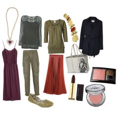 """""""Flamboyant natural, deep autumn coloring, lollipop body shape"""" by mary-86 on Polyvore"""