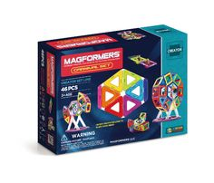 Magformers Carnival Set (46 PCS) - Bring your circus ideas to life and become a ringmaster with the award-winning Carnival set. Learn to build a Ferris wheel, Carousel and other great circus rides! Add accessories to your geometric shapes and design whirling, spinning creations.
