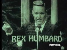 REX HUMBARD 1973 TV MINISTER CLASSIC TV SHOWS COMMERCIALS on DVDS at TVDAYS.com - YouTube Classic Tv, Tv Shows, Commercial, Christian, Memories, Mood, Reading, Daily Bible, Youtube
