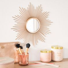 They produced a sunburst clock a while back. Now you can get some retro sunburst mirrors at Maisons Du Monde too. Gold Sunburst Mirror, Sunburst Clock, Sun Mirror, Rose Gold Room Decor, Rose Gold Rooms, Hippie Style Rooms, Ideas Habitaciones, Hippy Room, Beauty Corner
