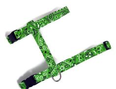 Cat Harness  Lime Green Bandana by PawsnTails on Etsy, $23.00