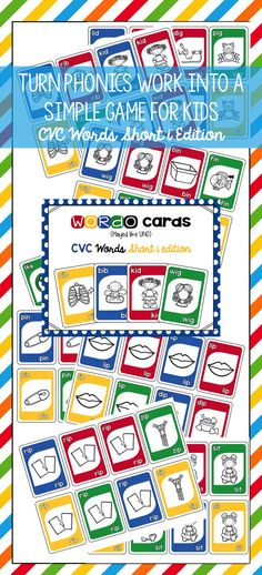 This is a great game played like UNO. Perfect for phonics practice in small group or word work station. Perfect for grades PK-2