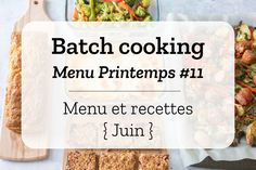 Batch Cooking - Menus et recettes pour la semaine du 3 juin 2019 - Expolore the best and the special ideas about Budget cooking Batch Cooking, Cooking Recipes, Healthy Recipes, Good Food, Yummy Food, Awesome Food, Dessert Aux Fruits, Cooking On A Budget, Cooking Light