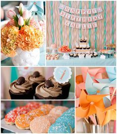 The BIG ONE First Birthday Party with Such Cute Ideas via Kara's Party Ideas | Cake, decor, cupcakes, games and more! KarasPartyIdeas.com #f...
