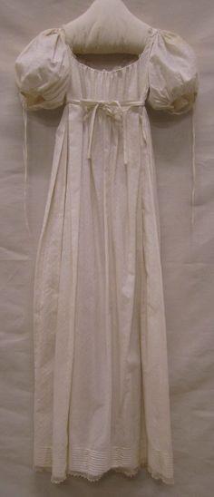 Japon| Gown, ca. 1810-1815, katoen | cotton,  Gemeentemuseum Den Haag #modemuze #janeausten #gemeentemuseum