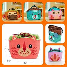 This cute lunch bag will keep your child's meal fresh throughout the day. Adorable faces combined with quality materials make Yum Buddies the perfect lunchtime pal. Sandwiches, snacks, and juice boxes all fit comfortably in the insulated and wipe-clean PEVA lined interior. Visit our website www.fit-fresh.com to pick the bag your child will love!