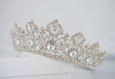 Full Bridal Crown Crystal Wedding Tiara by AuroraLuxeBridal