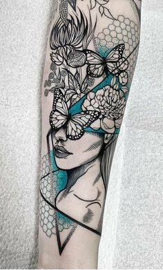 wildflower girl for michelle. Finger Tattoos, Tattoos Masculinas, Dope Tattoos, Forearm Tattoos, Unique Tattoos, Body Art Tattoos, Tattoos For Guys, Family Sleeve Tattoo, Virgo Tattoo Designs