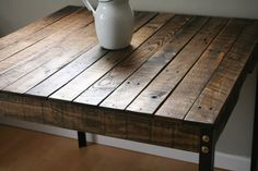 Rustic Industrial Reclaimed Wood Dining/Kitchen/Bistro/Pub Style Table with Angle Iron Legs Made to Order/Custom Order