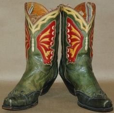 "double-d-ranch: ""Vintage boots with butterfly inlay "" Custom Cowboy Boots, Cowgirl Boots, Cowboy Hats, Western Wear, Western Boots, Western Cowboy, Tall Boots, Shoe Boots, Shoes"