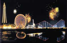 I adore this photo, a little edited  I think, but it really illustrates just how exciting my town is. Blackpool england - Google Search