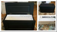 Turn an old door into a chest!