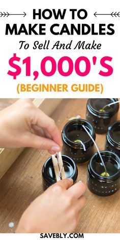 Candle Making For Beginners, Homemade Scented Candles, Homemade Business, Money Making Crafts, Candle Making Business, Soy Candles, Diy Candles To Sell, Candlemaking, Making Ideas