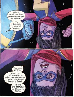 Better definition of what being a Hero means - Ms. Marvel #10