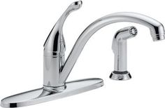 Delta 440-DST Collins™ Diamond™ Series 1-Handle Kitchen Faucet with Side Spray