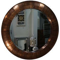 Spiegel-rond-koper-mandala