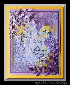 'Mir'acle Art Inspirations: yellow and purple ......a whole lot of stencils and designs by Ryn........