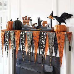 Bewitching Halloween Mantel Scarf - Grandin Road