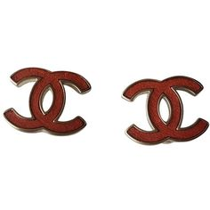 Pre-owned chanel earring (1.380 RON) ❤ liked on Polyvore featuring jewelry, earrings, red, pre owned jewelry, chanel earrings, red jewelry, preowned jewelry and chanel jewelry