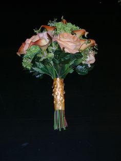 Coral & Green Bouquet