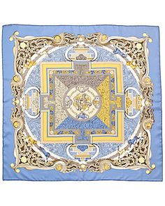"""Hermes """"Animaux Solaires"""" by Zoé Pauwels Silk Scarf"""
