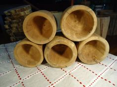 Aromatic cedar cups (set of 5) by MysteryLathe on Etsy Cupping Set, Lathe, Mystery, Cups, Unique Jewelry, Wood, Handmade Gifts, Vintage, Etsy
