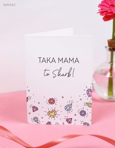 Kartki i etykiety na dzień mamy Bday Cards, Everything And Nothing, Gifts For Mom, Projects To Try, Challenges, Presents, Diy, Place Card Holders, Printables