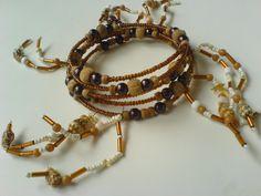 Navajo beads and shells bangle £5.99