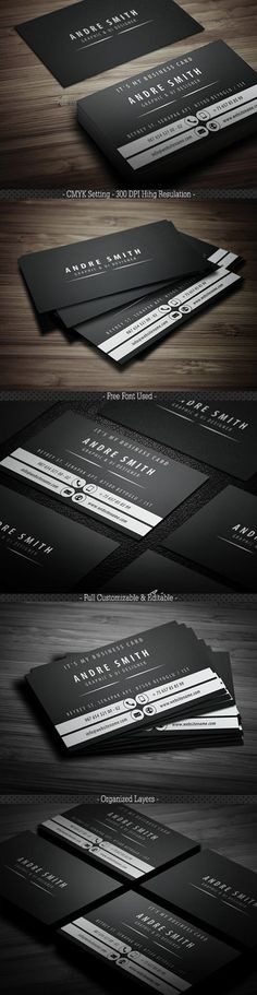 A beautifully designed Business card templates for your business or company. Print ready business cards with fully editable Photoshop PSD files. All business Corporate Design, Business Design, Professional Business Card Design, Professional Business Cards, Cool Business Cards, Creative Business, Name Card Design, Bussiness Card, Web Design