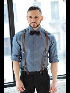 #Men #Suspenders #Outfit