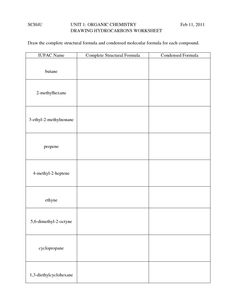 Bunch Ideas of Organic Chemistry Worksheets With Sheets ...