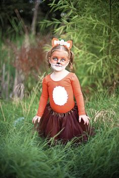 Who's the cutest creature in the woodland? Your little babe, of course! Pair her cuteness with our Girls Fox Costume and you have total Halloween awesomeness!   What does the Fox say? Thank you mama for my Fox Costume! Bobbin' for apples, getting pictures done or ringing doorbells for candy? Our costumes can hold up to all of the fun Halloween festivities!