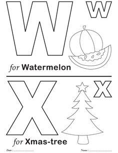 Printables Alphabet W-X Coloring Sheets Alphabet Charts, Alphabet Worksheets, Preschool Worksheets, Nursery Worksheets, Printable Alphabet, Alphabet Tracing, Tracing Worksheets, Preschool Crafts, Coloring Letters
