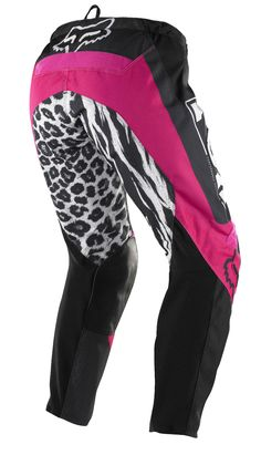 Black/Pink - Fox Racing Womens 180 Pants. I'm not always a fan of pink, but I know if I'm seen from a distance, you know I'm a fellow female rider.. ; )