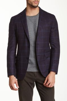 Window Pane Notch Collar Wool Blazer by Spurr on @HauteLook