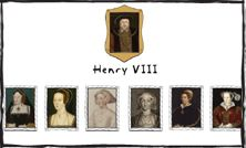 Henry VIII's Wives.  Six wives, five unhappy endings... All images courtesy of the National Portrait Gallery.