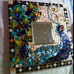 Peacock Mirror Mosaic