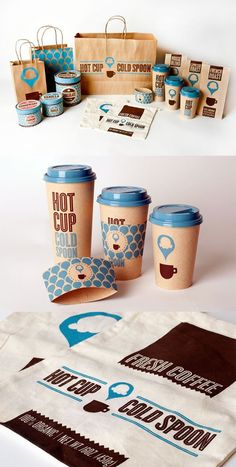 This is a stunning brand identity package. #HotCupColdSpoon #identity #branding #packaging #design