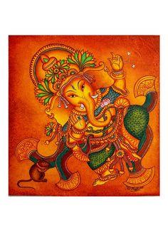 Buy online Paintings - Hand painted kerala mural painting design 7 from Desically Ethnic Kerala Mural Painting, Art Painting Gallery, Madhubani Painting, Madhubani Art, Ganesha Art, Pichwai Paintings, Indian Art Paintings, Watercolor Paintings, Saints