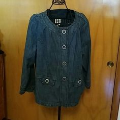 Plus size demin jacket.. Great jacket with big snap closures Live A Little Jackets & Coats Jean Jackets