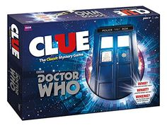 Doctor Who Clue Board Game Mystery Weapons Screwdriver Police Box USAopoly Multicolor Doctor Who Shop, Doctor Who Gifts, Bbc Doctor Who, Clue Board Game, Board Game Geek, Board Games, Clue Games, Mystery Games, Big Bang Theory